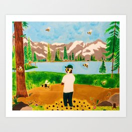 Tyler the Creator - Wolf x Flowerboy - Acrylic Painting Art Print