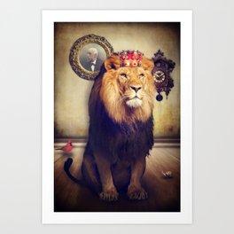 The royal lion Art Print