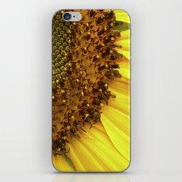 sunflower macro II iPhone Skin