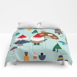 gnome blue Comforters