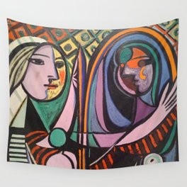 Pablo Picasso Girl Before a Mirror Wall Tapestry