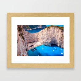 Shipwreck bay Framed Art Print