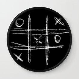 Tic-tac-toe Morpion Wall Clock