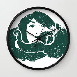 octopus girl Wall Clock