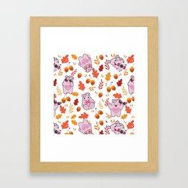 Sakura Fall Pattern Framed Art Print