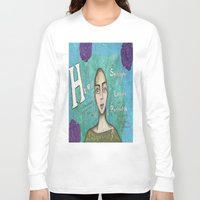 hero Long Sleeve T-shirts featuring Hero by Leanne Schuetz Mixed Media Artist