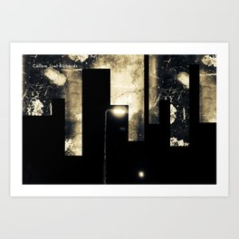 Lights of Bradford St Manipulation 1.0 Art Print