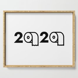 2020 Toilet Paper Shortage Meme Serving Tray