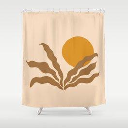 wavy sun Shower Curtain