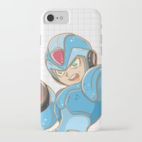 mega man iPhone & iPod Cases featuring Mega-Man by HypersVE