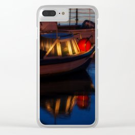 Sunset on the turkish aegean sea Clear iPhone Case