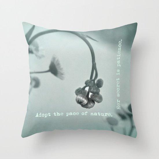 Patient Nature Throw Pillow