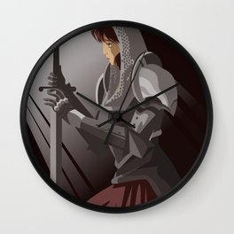 joan of arc lady warrior Wall Clock