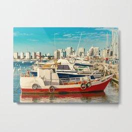 Punta del Este Port, Maldonado, Uruguay Metal Print