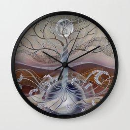 winter in the garden of eden Wall Clock