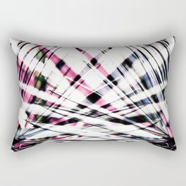 Abstract Tropical Black and Pink Jungle Leaves Rectangular Pillow