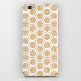 Hex Pattern 72 - Mandarine iPhone Skin