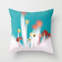 cherry blossom Throw Pillows featuring Cherry Blossom by Sharon Johnstone