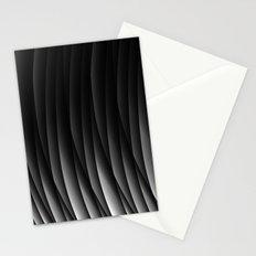 Black pattern Stationery Cards