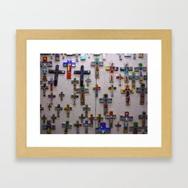 Guatemalan Crosses Framed Art Print