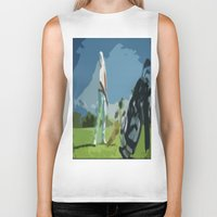 golf Biker Tanks featuring GOLF by aztosaha
