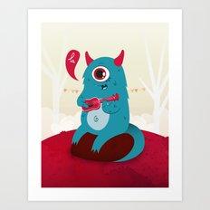 The singing Monster Art Print
