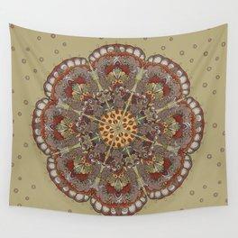 Pizza Cat Mandala Wall Tapestry