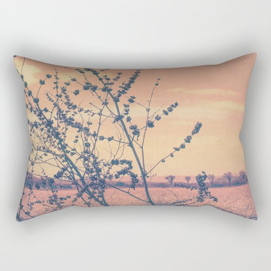 Imperfect Beauty (Beginning of Spring, California Countryside Farm) Rectangular Pillow