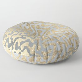 Modern elegant abstract faux gold silver pattern Floor Pillow