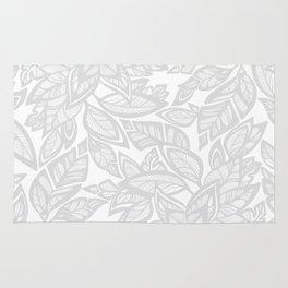 Let Love Grow - gray/white Rug