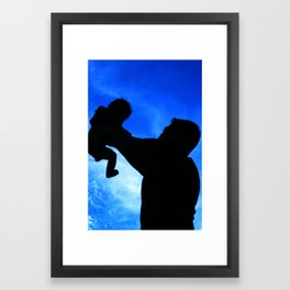 Proud papa Framed Art Print