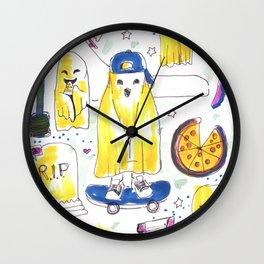 ghost skater horror pattern Wall Clock
