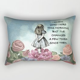 Wondering Alice - Alice In Wonderland Quote Rectangular Pillow