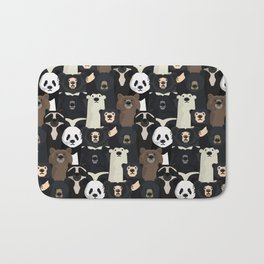 Bears of the world pattern Bath Mat