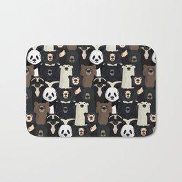 Bears of the world pattern Bath Mat