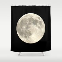 the moon Shower Curtains featuring Moon by  Agostino Lo Coco
