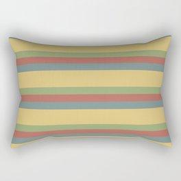 colorful autumn pattern horizontal stripes Rectangular Pillow