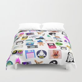 Bring Back the 90's Duvet Cover