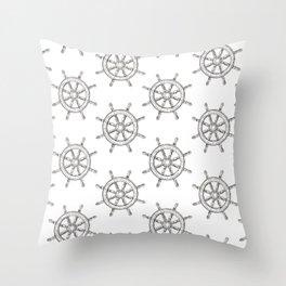 Steering wheel pattern Throw Pillow