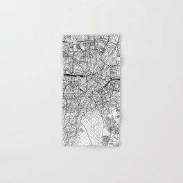 Munich White Map Hand & Bath Towel