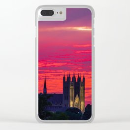 Guelph Glowing Sunset Clear iPhone Case