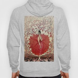 "Delightful Art Deco Illustration ""Blossoms"" Hoody"