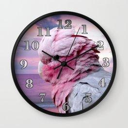 Pink Galah Cockatoo Wall Clock