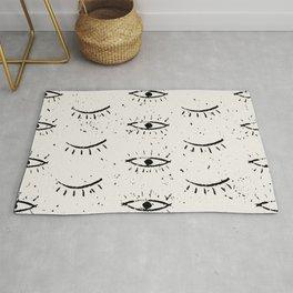 The eyes - vintage drawing illustration pattern Rug