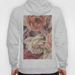 Great Garden Roses,peach Hoody