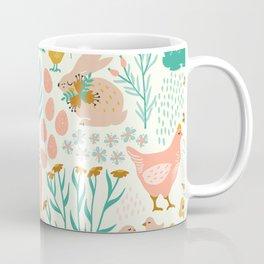 Pastel colors easter pattern Coffee Mug
