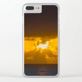 Mermaid Sun Rays Clear iPhone Case