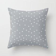Pin Points Grey Throw Pillow