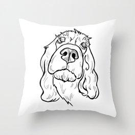 Thoughtful spaniel Throw Pillow