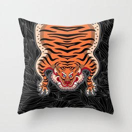 TIBETAN TIGER (black) Throw Pillow